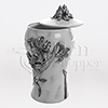 Lily Flowers Pewter Cast Resin Keepsake Cremation Urn