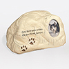 Cat Paw Prints Rock Cast Resin Photo Pet Cremation Urn