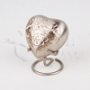 Classic Platinum Engraved Brass Metal Heart Token Cremation Urn