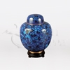 China Blue Cloisonné Token Cremation Urn