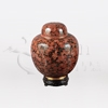 China Red Cloisonné Token Cremation Urn