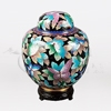 China Butterfly Cloisonné Keepsake Cremation Urn
