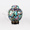 China Butterfly Cloisonné Token Cremation Urn