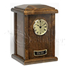 Chestnut Tower Clock Hardwood Cremation Urn