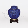 Great Wall Blue Cloisonné Token Cremation Urn