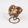 Golden Butterfly Cloisonné Heart Token Cremation Urn