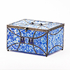 Paragon Sapphire Glass Memory Chest Cremation Urn