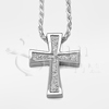 Spanish Cross Sterling Silver Cremation Jewelry Necklace