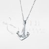 Bruce Marine Ship Anchor Sterling Silver Cremation Jewelry Necklace
