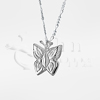 Butterfly Sterling Silver Cremation Jewelry Necklace