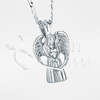3D Angel Sterling Silver Cremation Jewelry Necklace