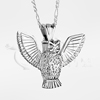 3D Owl Sterling Silver Cremation Jewelry Necklace
