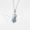 Violin Sterling Silver Cremation Jewelry Necklace