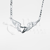 Heart with Wings Sterling Silver Cremation Jewelry Necklace