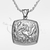 Mystical Ibis Cushion Sterling Silver Cremation Jewelry Necklace