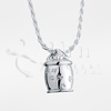 Dog Bone Cookie Jar Sterling Silver Cremation Jewelry Necklace