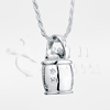 Cat Cookie Jar Sterling Silver Cremation Jewelry Necklace
