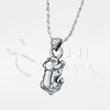 3D Puppy Dog Sterling Silver Cremation Jewelry Necklace