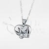 Heart Puppy Sterling Silver Cremation Jewelry Necklace