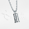 Small Pet Traditional Cylinder Sterling Silver Cremation Jewelry Necklace