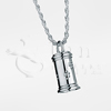 Large Pet Traditional Cylinder Sterling Silver Cremation Jewelry Necklace