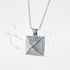 Pyramid Sterling Silver Cremation Jewelry Necklace