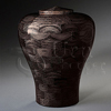 Lily Black Wood Cremation Urn