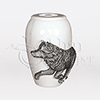 Free Spirit Wolf Pewter Cast Resin Token Cremation Urn