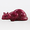 Pouncing Cat Magenta Statuary Pet Cremation Urn