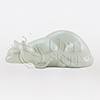 Pouncing Cat Pearl Statuary Pet Cremation Urn